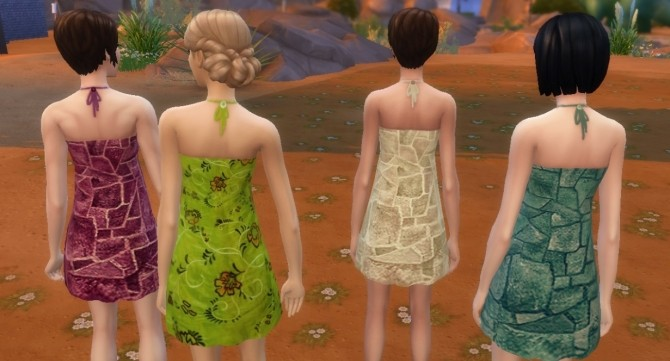Short sundress (16 recolors) by Sauris at Mod The Sims image 3310 670x361 Sims 4 Updates