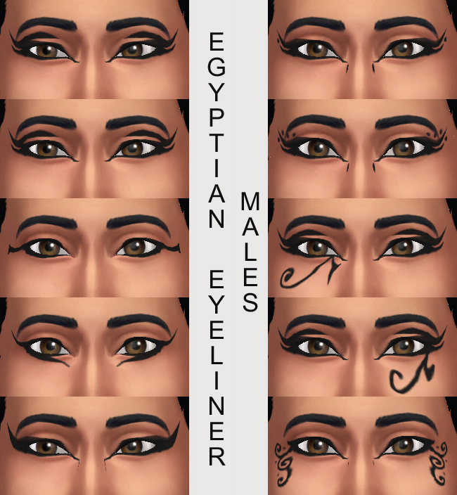 10 Egyptian Eyeliners by Simmiller at Mod The Sims image 334 Sims 4 Updates