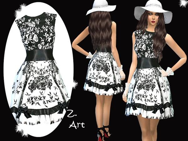 Sims 4 Ascot dress by Zuckerschnute20 at TSR