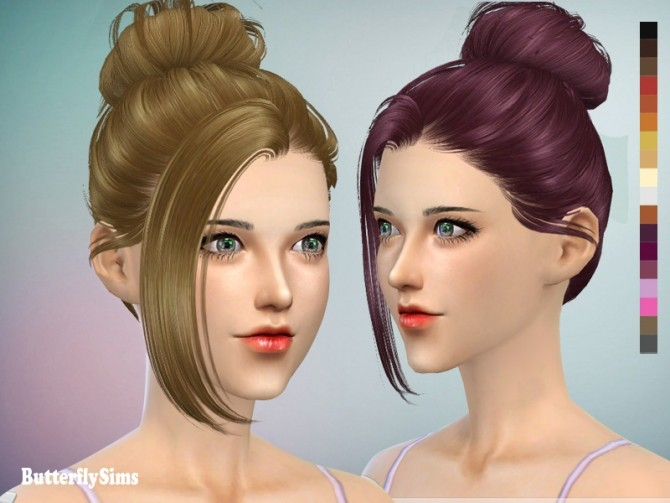 Sims 4 B flysims hair AF060 2 (PAY) at Butterfly Sims
