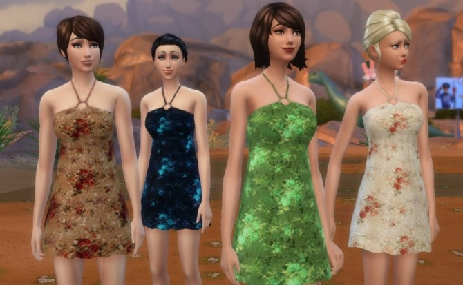 Short sundress (16 recolors) by Sauris at Mod The Sims image 3410 670x413 Sims 4 Updates