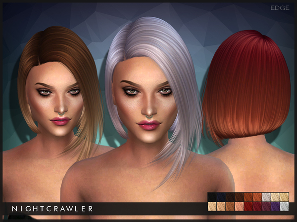 Sims 4 Edge hair by Nightcrawler at TSR