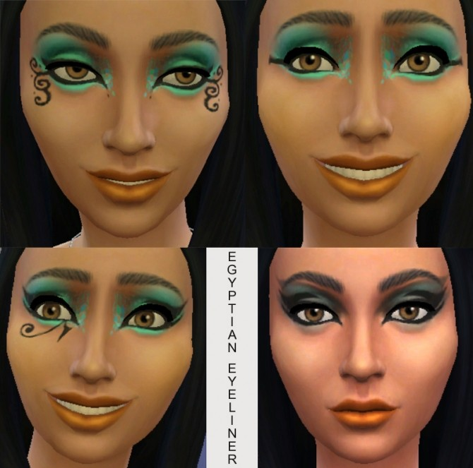 10 Egyptian Eyeliners by Simmiller at Mod The Sims image 344 670x663 Sims 4 Updates