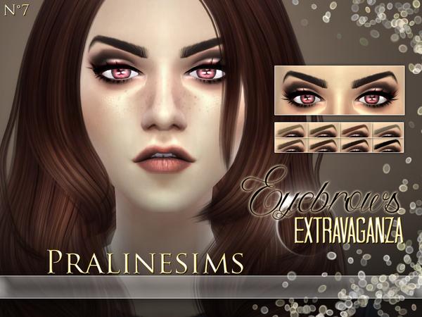 Sims 4 Eyebrows Extravaganza by Pralinesims at TSR
