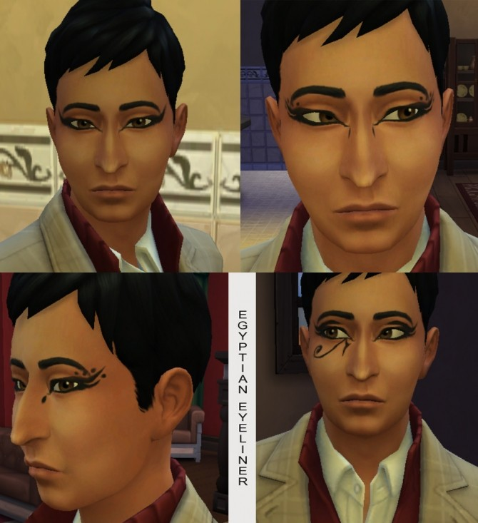 10 Egyptian Eyeliners by Simmiller at Mod The Sims image 354 670x733 Sims 4 Updates