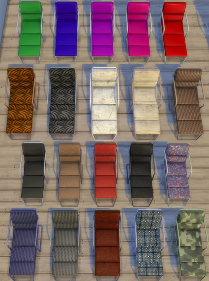 Sims 4 Functional Lounge Chair by Esmeralda at Mod The Sims