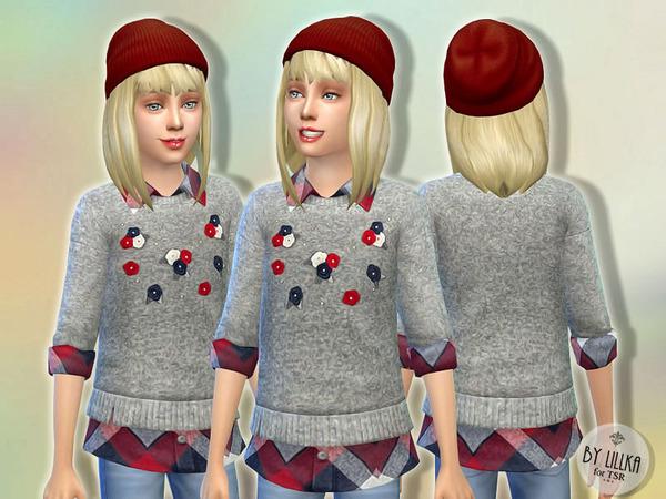 Fancy Fleece Sweater by lillka at TSR image 360 Sims 4 Updates