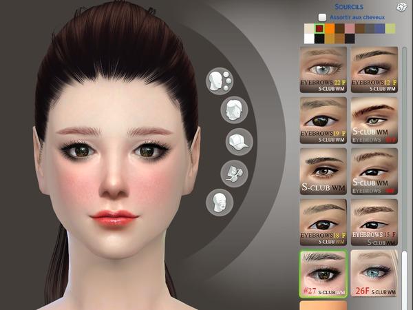 Sims 4 Eyebrows 27 F by S Club WM at TSR
