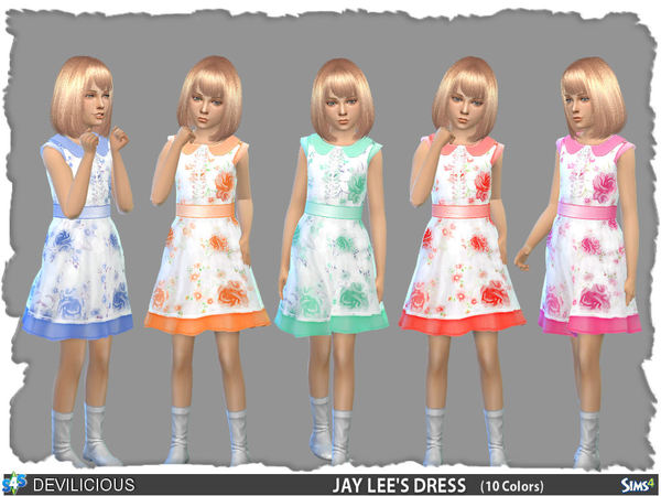 Sims 4 Jay Lees Dress by Devilicious at TSR