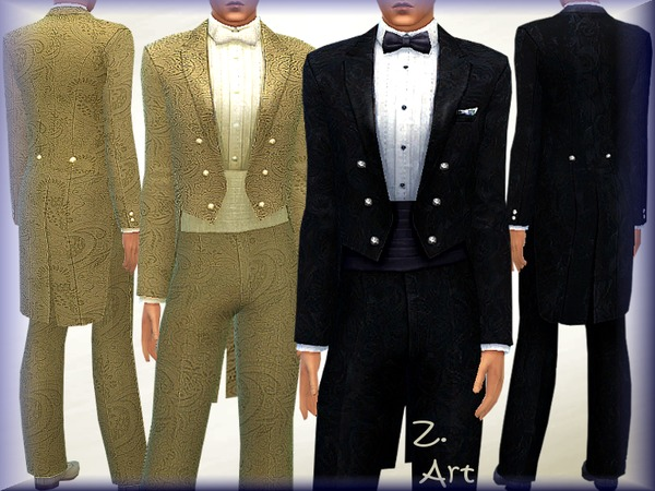 Sims 4 Bridegroom suit by Zuckerschnute20 at TSR