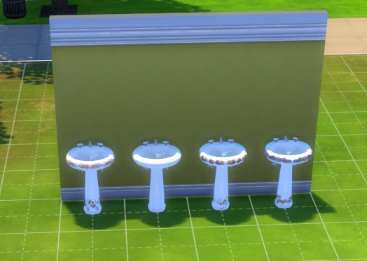 Sims 4 3 Free Standing Sinks by simmythesim at Mod The Sims
