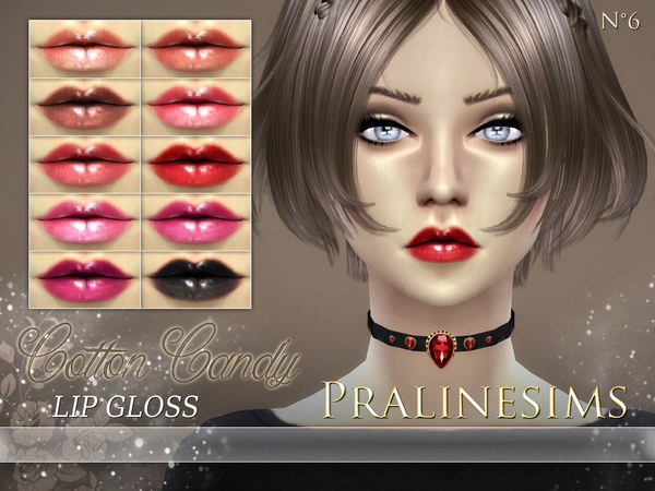 Sims 4 Cotton Candy Lip Gloss by Pralinesims at TSR