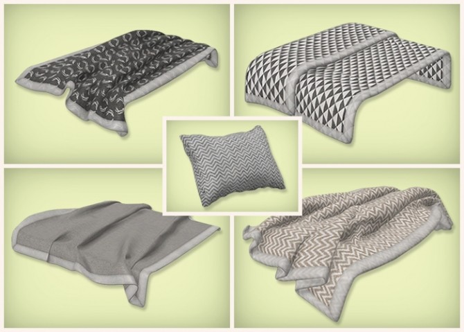 Neutral Beddings Blankets And Pillows At Simsrocuted
