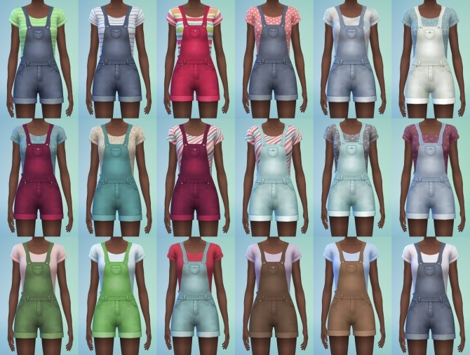 Sims 4 Short overalls by Amylet at Mod The Sims