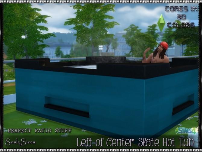 Sims 4 Left of Center Slate Hot Tub (v2) at SrslySims