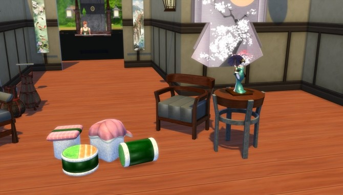 Japanese Inspired Living Set Conversion by EmpathLunabella at Mod The Sims image 438 670x382 Sims 4 Updates