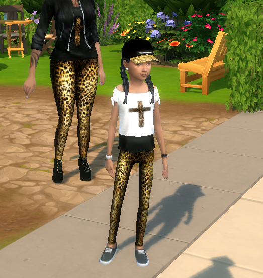 Sims 4 CnC Leggings and Top by MzEnvy20 at Mod The Sims