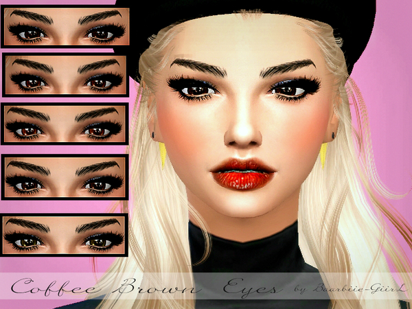Sims 4 Coffe Brown Eyes by Baarbiie GiirL at TSR