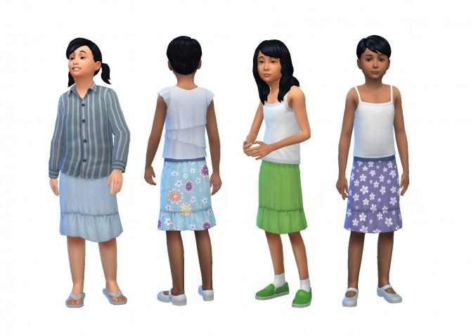 Sims 4 Knee Length Skirts for Boys by plasticbox at Mod The Sims