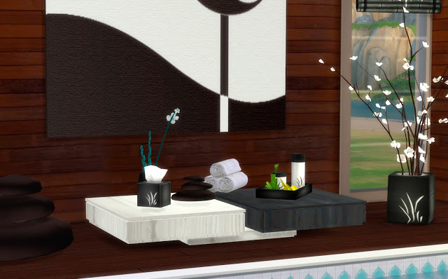 Sims 4 SPA clutter at pqSims4