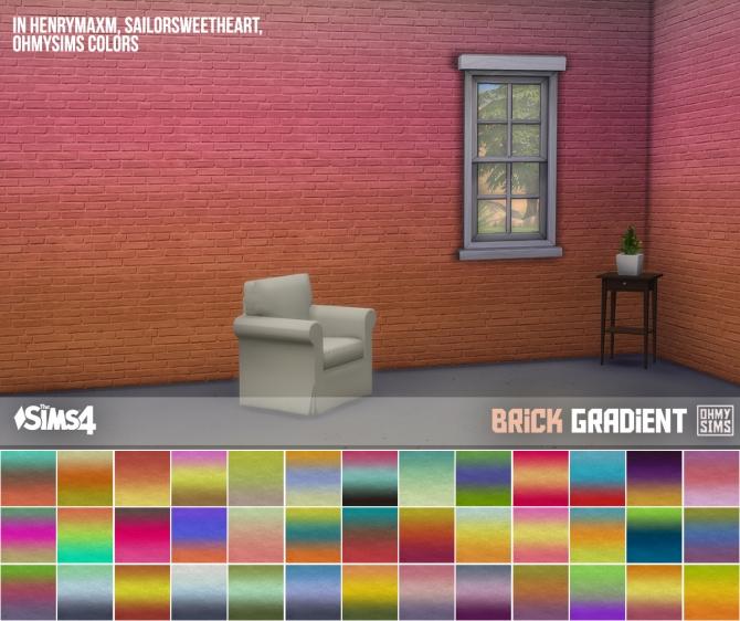 3 Sets Of Brick Wallpaper At Oh My Sims 4 187 Sims 4 Updates