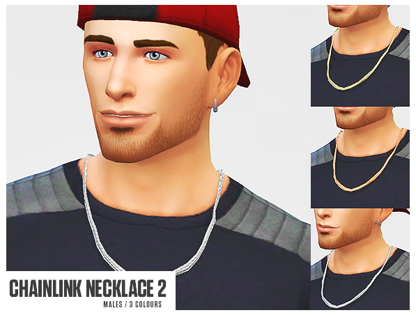 Horseshoe piercing & chainlink necklace at LumiaLover Sims image 473 Sims 4 Updates