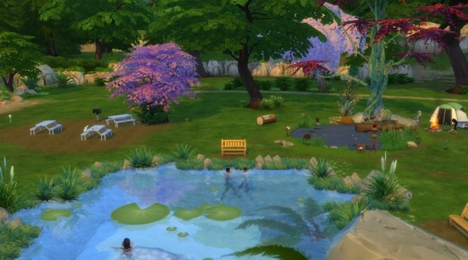 LilyPad Lake Park...Swimming, Fishing, Picnic, Playground. Camp Site.. by mrsyule at Mod The Sims image 478 670x373 Sims 4 Updates