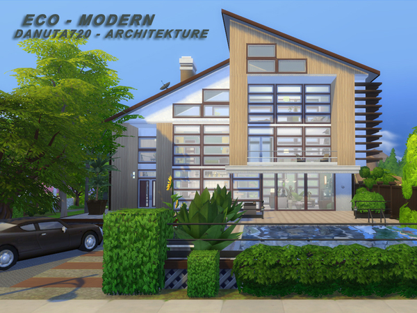 ECO Modern house by Danuta720 at TSR image 481 Sims 4 Updates