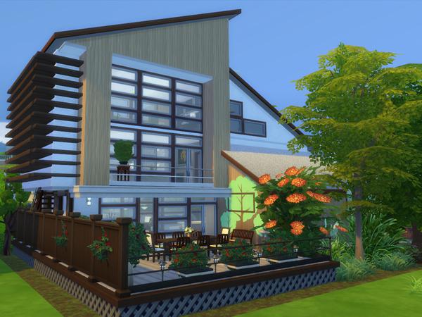 ECO Modern house by Danuta720 at TSR image 491 Sims 4 Updates
