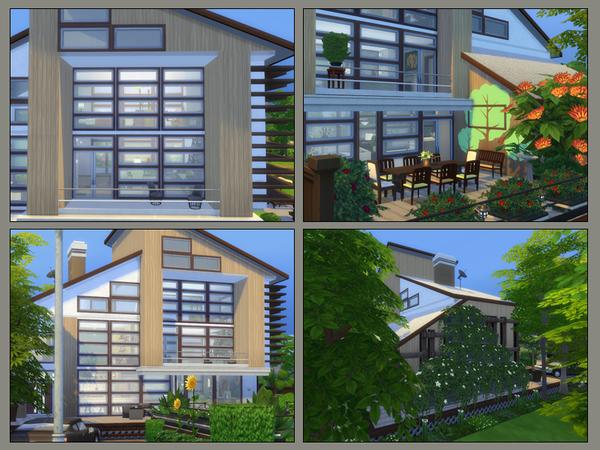 Sims 4 ECO Modern house by Danuta720 at TSR