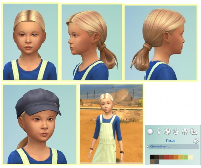 Sims 4 SientistLowloop for Girls hair edit at Birksches Sims Blog