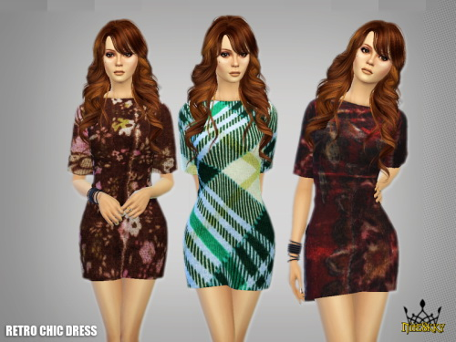Sims 4 Retro Chic Dress at NiteSkky Sims