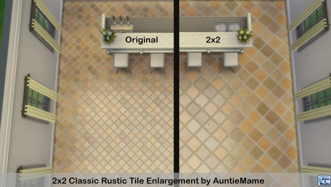 2x2 Classic Rustic Tile Enlargement by AuntieMame at Mod The Sims image 5112 670x380 Sims 4 Updates