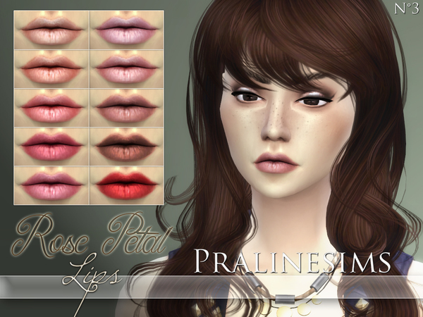 Rose Petal Lips by Pralinesims at TSR image 512 Sims 4 Updates