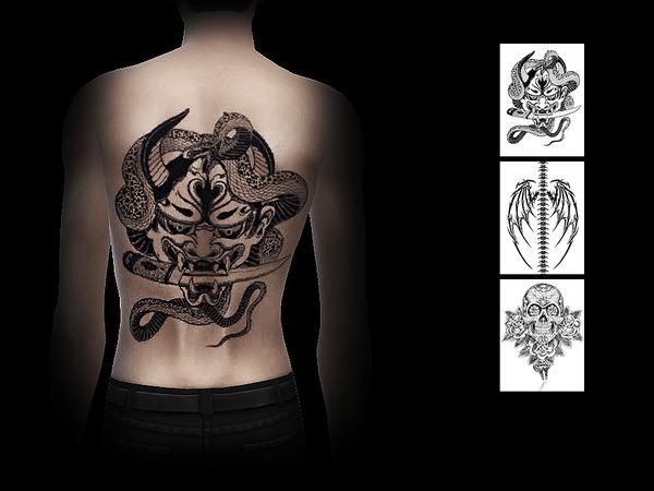Sims 4 Tattoo back 01 by S Club WM at TSR