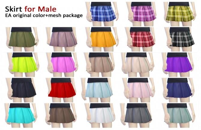 Sims 4 Skirt for male at Imadako