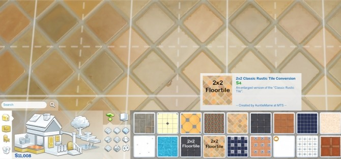 2x2 Classic Rustic Tile Enlargement by AuntieMame at Mod The Sims image 5210 670x313 Sims 4 Updates