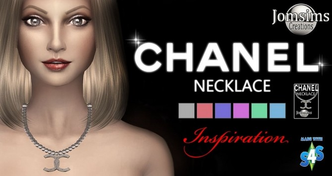 Sims 4 C. necklace at Jomsims Creations