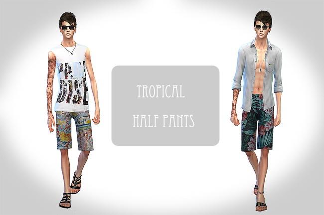 Sims 4 Tropical half pants at ChiisSims – Chocolatte Sims