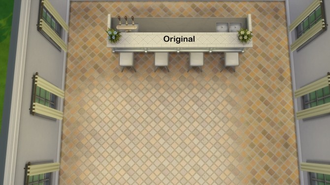 Sims 4 2x2 Classic Rustic Tile Enlargement by AuntieMame at Mod The Sims