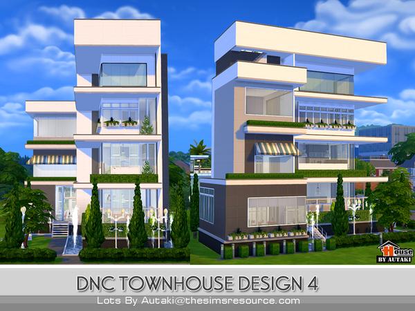 Dnc Townhouse Design 4 By Autaki At Tsr Sims 4 Updates