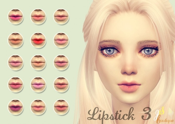 Sims 4 Lipstick 3 at JSBoutique