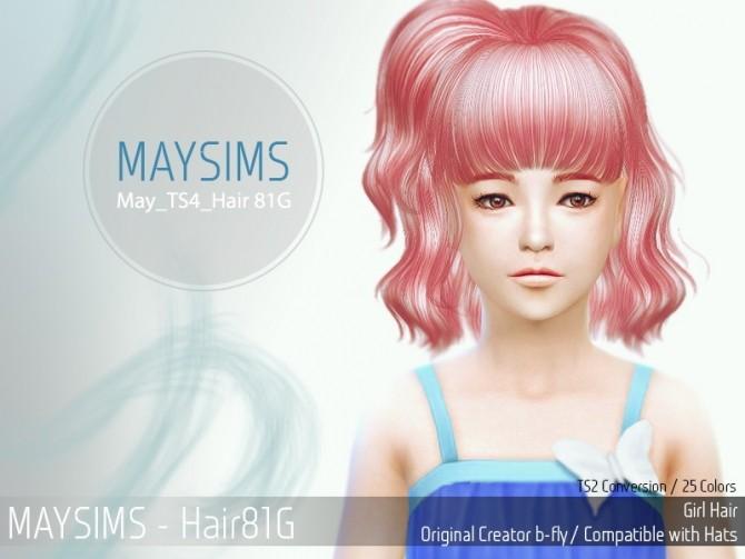 Sims 4 Hair 81G (B fly) at May Sims