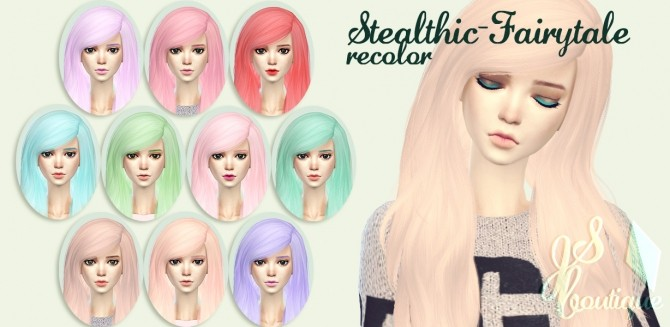 Sims 4 Stealthic Fairytale Hair Recolor at JSBoutique
