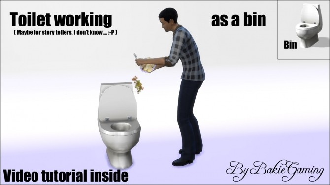 Sims 4 Toilet working as a Bin (Tutorial item) by Bakie at Mod The Sims