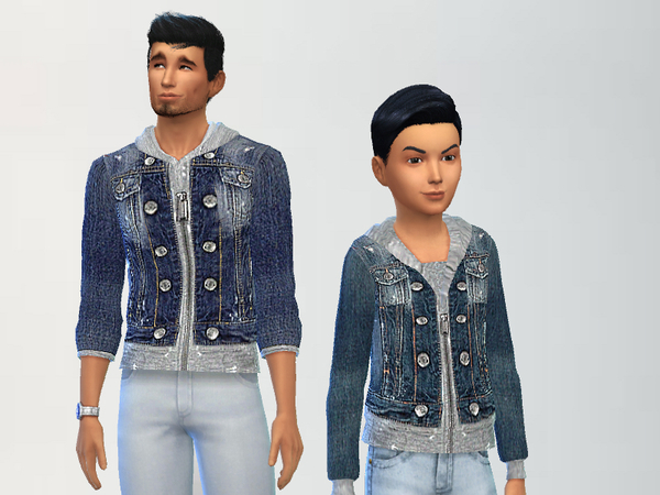 Sims 4 Father and Son Jackets by Puresim at TSR