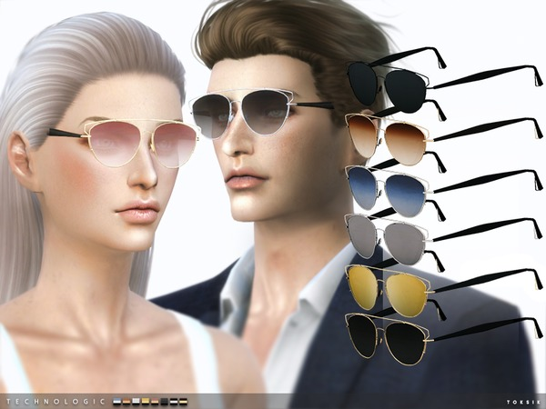 Technologic Sunglasses by toksik at TSR image 585 Sims 4 Updates
