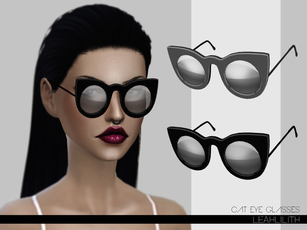 Cat Eye Glasses by LeahLilith at TSR image 5912 Sims 4 Updates