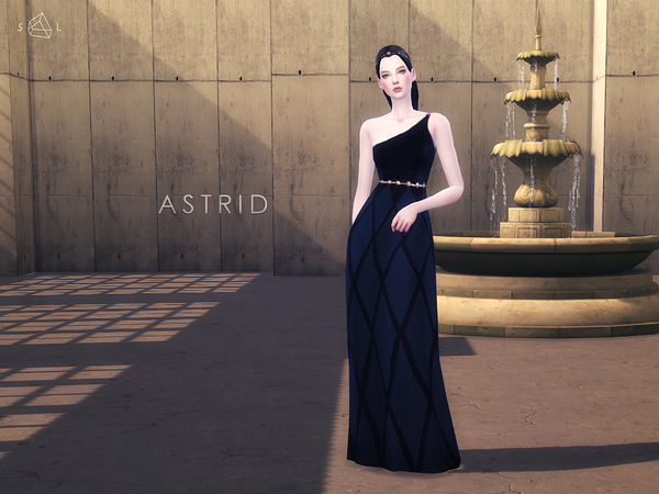 Sims 4 Black Gown Set ASTRID by starlord at TSR