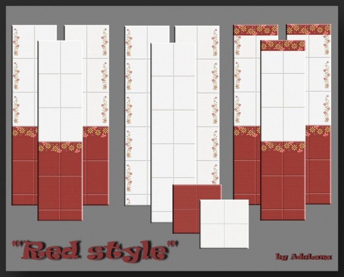 Red tile set by AdeLanaSP at Mod The Sims image 6010 670x540 Sims 4 Updates
